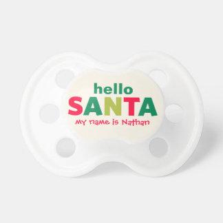 Hello Santa Claus | Custom Baby Pacifier