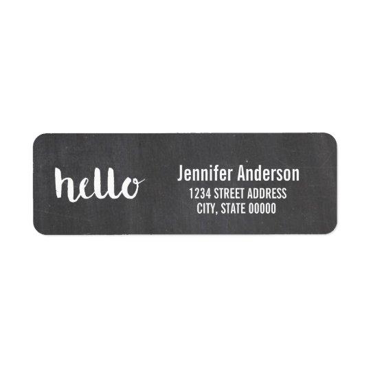 Hello Script Chalkboard   Labels