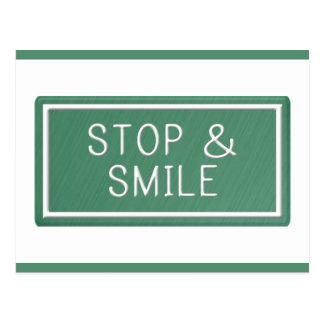 Hello Smiles Motivational Quote Blank Postcard