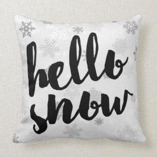 Hello Snow - Christmas Snowflakes - Square Pillow