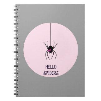 Hello Spiders Spiral Notebook