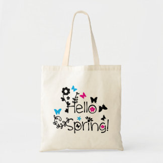 Hello spring Budget Tote Budget Tote Bag