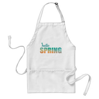 Hello Spring butterfly apron
