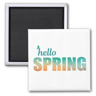 Hello Spring butterfly fridge magnet