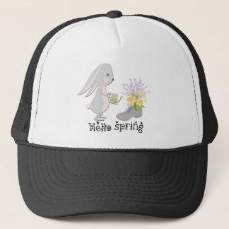 hello spring trucker hat