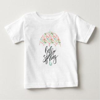 Hello Spring Umbrella Baby T-Shirt