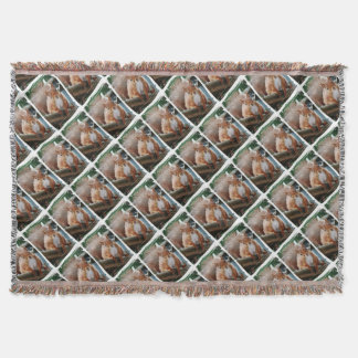 Hello Squirrel - Photography Jean Louis Glineur Throw Blanket
