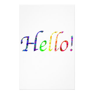 hello! stationery paper