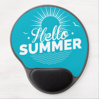 Hello Summer Design Gel Mouse Pad