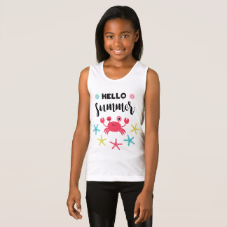 Hello Summer Happy Crab Singlet