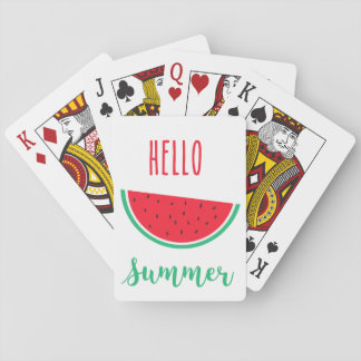 Hello Summer playing cards