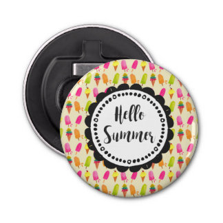 Hello Summer Popsicles and Ice Cream Bottle Opener