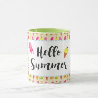 Hello Summer Popsicles and Ice Cream Mug