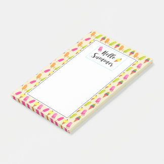 Hello Summer Popsicles and Ice Cream Post-it Notes