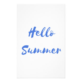 hello summer stationery design