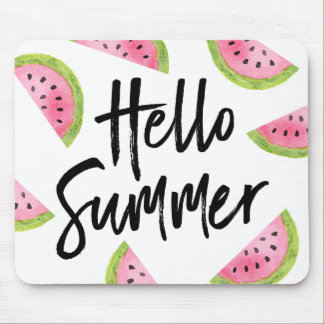 Hello Summer Watermelon Mouse Pad