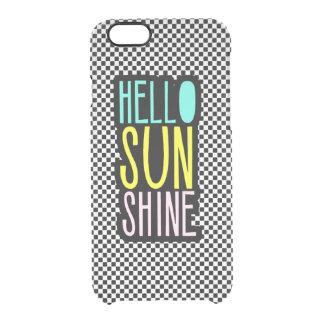 Hello Sun Shine Girly Clear iPhone 6/6S Case