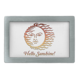 HELLO SUNSHINE Fun Sun Summer Belt Buckle