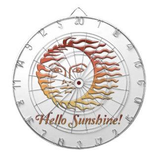 HELLO SUNSHINE Fun Sun Summer Dartboard
