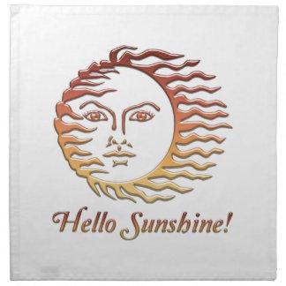 HELLO SUNSHINE Fun Sun Summer Napkin
