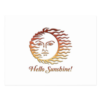 HELLO SUNSHINE Fun Sun Summer Postcard