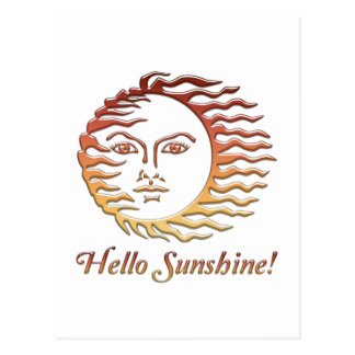 HELLO SUNSHINE Fun Sun Summer Postcard
