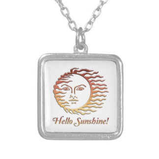 HELLO SUNSHINE Fun Sun Summer Silver Plated Necklace