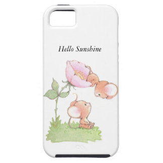 Hello Sunshine Mice with Flower iPhone 5 Case