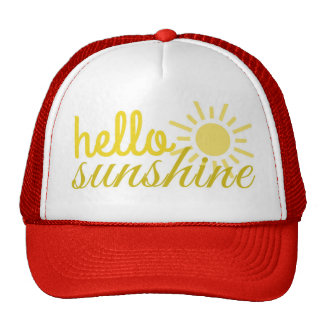 Hello Sunshine Women's Trucker Summer Hat