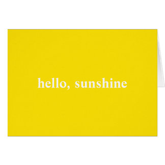 Hello Sunshine Yellow Note Card