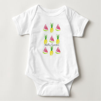 Hello Sweetie Watermelon and Pineapple Body Suit Baby Bodysuit