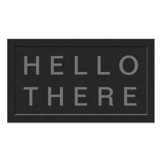Hello There! - Bold Social Networking Calling Card Pack Of Standard Business Cards