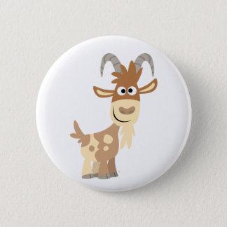 Hello There! Cute Cartoon Goat 6 Cm Round Badge