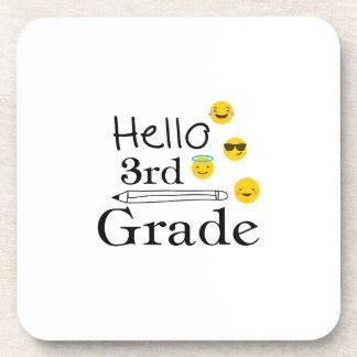 Hello Third Grade  3rd Emoji Funny Gifts Coaster