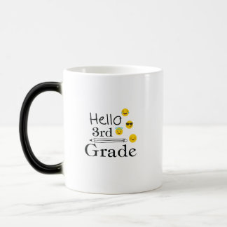 Hello Third Grade  3rd Emoji Funny Gifts Magic Mug