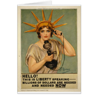 Hello! This is liberty speaking Card