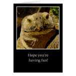 Hello to Camper Smiling Turtle Greeting Card