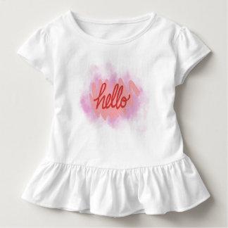 Hello to world Toddler Ruffle Tee