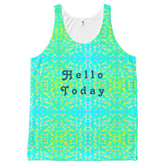 Hello today All-Over print singlet