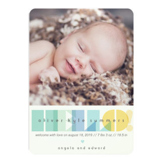 Hello Transparent Text Photo Birth Announcement