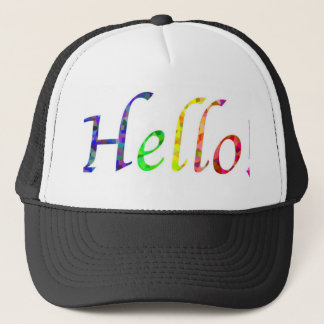 hello! trucker hat