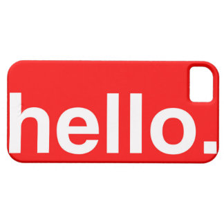 HELLO Typography Greeting iPhone 5/5S Covers