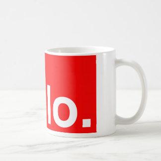 HELLO Typography Greeting Coffee Mug