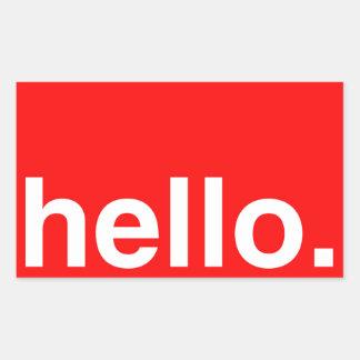 HELLO Typography Greeting Rectangular Stickers
