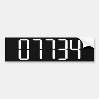 """""""HELLO"""" - Upside-down Calculator Word - BUMPER STI Bumper Sticker"""