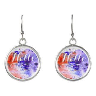 Hello | Watercolor Earrings