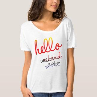 Hello Weekend Canvas Slouchy Boyfriend T-Shirt