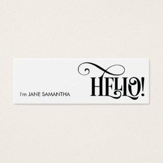 Hello! White Business Card