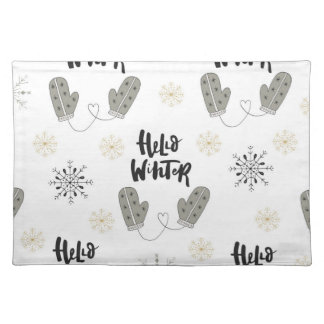 Hello Winter Pattern Placemat