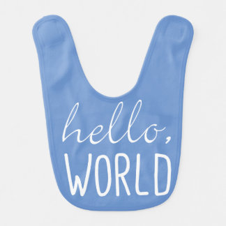 Hello World Baby Bib Cute Gift for New Baby Shower